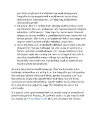 ask the experts gender inequality essay gender inequality research paper example studentshare