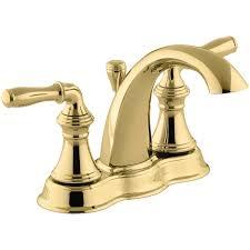 a large image of the kohler k 393 n4 vibrant polished brass
