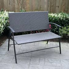 wicker bench outdoor patio flare pf wicker outdoor folding bench at outdoor wicker furniture cushions canada
