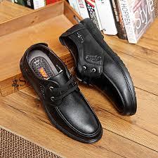 <b>Fashion</b> Men Breathable Flat <b>Casual</b> Leather Shoes Business ...
