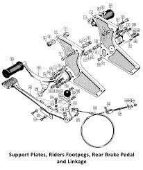 1971 norton mando support plates rider footpegs rear brake pedal classic bike spares