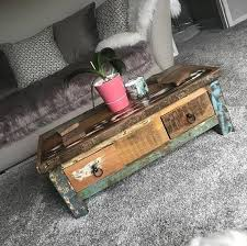 vintage industrial coffee table with 2