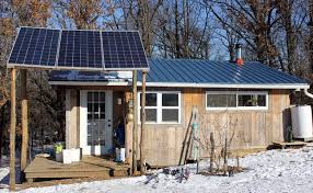 installing a homestead solar electric system Electrical Wiring Of A House With Solar Panel three photovoltaic panels power our off grid tiny house in ne missouri homestead honey Home Electrical Panel