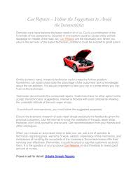 automotive repair complaints