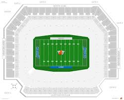Ford Field Seating Chart View Detroit Lions Seating Guide Ford Field Rateyourseats Com