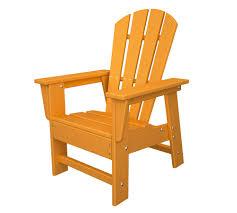 recycled plastic adirondack chair children s adirondack chair tangerine