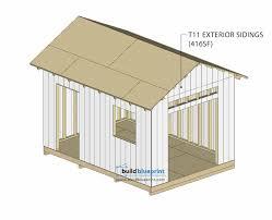 14x10 garden shed plans build blueprint