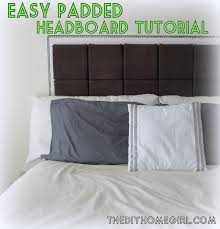 padded headboard with white wall and pillows for bedroom decoration ideas