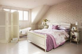 bedroom furniture interior fascinating wall. Bedroom. White Wooden Bed With Purple Sheet Beside Silver Side Table On The Bedroom Furniture Interior Fascinating Wall A
