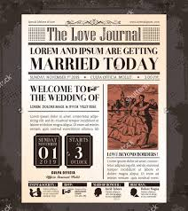 Wedding Newspaper Templates 7 Word Pdf Psd Indesign