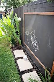 outdoor blackboard chalkboard fence design backyard kids