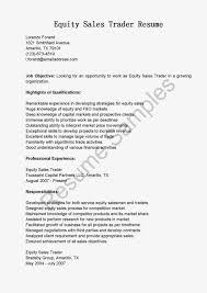 Sample Traders Resume Stockbroker Resumes Stock Trader Resume Examples Day Trader