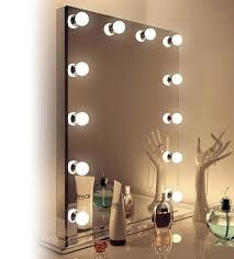 Architecture And Interior: Minimalist Make Up Mirror With Lights Vanity In  Many Colors At Hollywood