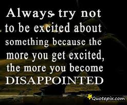 try not to be excited quote image