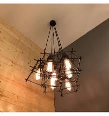 Personifizierbarer Industrielle Kronleuchter Mit Käfigen Kaufen Sie Industrielampen Area