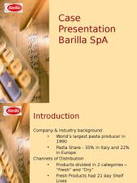 barilla spa case solution inventory retail