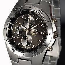 seiko chronograph titanium two tone mens snd451p1