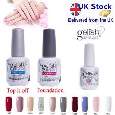 gelish soak off uv led base top coat arte color manicure gel nail polish 15ml uk 1 of 10 see more