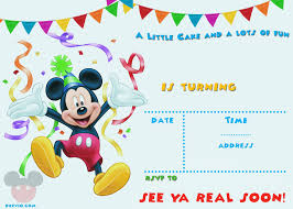 mickey mouse party invitation free printable mickey mouse party invitation template