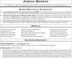Hr Generalist Resume Objective Human Resource Resume Objective Hr Extraordinary Hr Generalist Resume