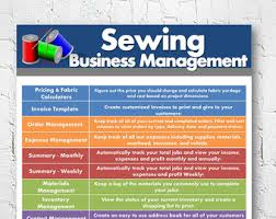 sewing alterations business management software order pricing calculator invoice template excel spreadsheet instant
