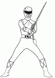Fearsome Power Ranger Colouring Coloring Pages Sheet Movie Stock