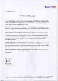 Appreciation Letters Nishant Saxena