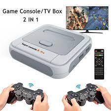 Siêu Tay Cầm X PRO Máy Trò Chơi Điện Tử/Andriod TV Box Với Hai Bộ Điều  Khiển Cho PSP/PS1/DC xây Dựng Trong 50 Trình Giả Lập 50000 Trò Chơi|Video  Game Consoles