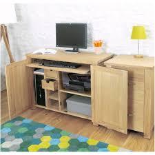 salisbury oak hidden home office computer desk baumhaus hidden home office 2 door cabinet