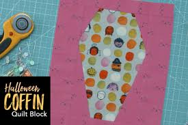 Halloween Coffin Quilt Block | This coffin quilt block is the ... & Halloween Coffin Quilt Block Adamdwight.com