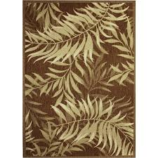 palm leaf havanah rectangular machine made nature area rug common 5 x 7