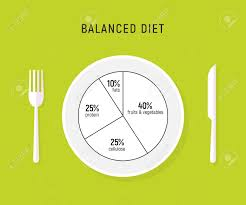 Daily Diet Chart For Good Health Healthy Diet Food Balance Nutrition Plate Vector Health Meal