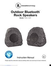 outdoor bluetooth rock speakers. innovative technology itsbo-358p5 instruction manual (9 pages). outdoor bluetooth rock speakers