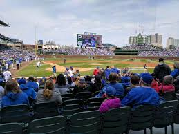 Wrigley Field Section 120 Row 1 Seat 10 Chicago Cubs Vs