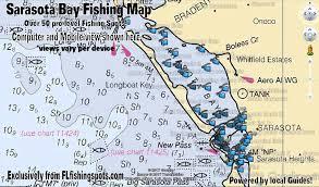 Sarasota Bay Nautical Chart Sarasota Bay Fishing Spots Gps Coordinates For Redfish