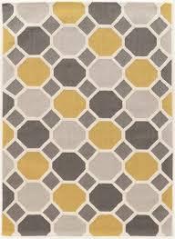 trio ceramic gold blue and cream rug