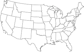blank states map dr odd for of united  lapiccolaitaliainfo