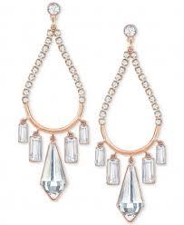 swarovski rose gold tone crystal chandelier earrings