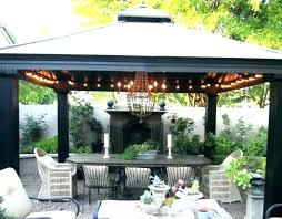 gazebo kits pergola steel home improvement ideas 10x10 garden treasures replacement canopy lights