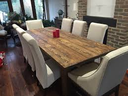 chic dining room furniture manufactured wood double pedestal counter assembled 8 person round dining table medium yellow wood spruce wood medium oval