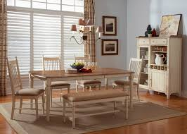 Maple Living Room Furniture Rectangular Casual Dining Table In Maple Veneers With Weathered
