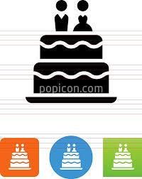 Wedding Cake Icon Popicon