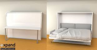 hover horizontal queen murphy bed desk expand furniture folding tables smarter wall beds space savers