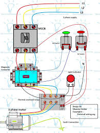 three phase dol starter wiring diagram with mccb, contactor three phase motor starter wiring diagram three phase dol starter wiring diagram