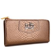 Best Style Coach Madison Continental Zip In Croc Embossed Large Bronze  Wallets Agh Outlet CLg3o