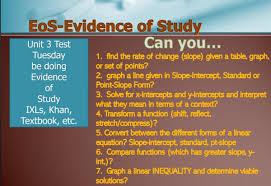 unit 3 topics of study