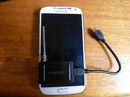samsung tv tuner. comparing size of elecom mobile tv tuner with samsung galaxy s4 tv d
