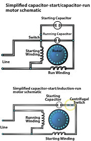 single phase capacitor start run motor wiring diagram wiring wiring diagram 230v single phase motor start and run