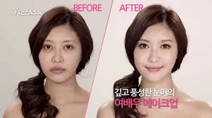 without make eng subs korean celebrity makeup using eyeme 37 by son dae sik korean celebs before after
