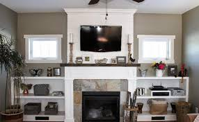 shiplap fireplace wall with tv